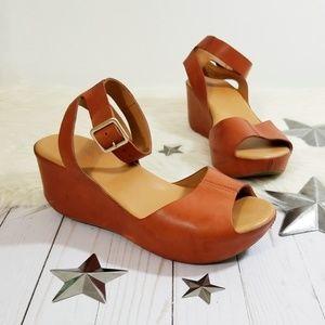87511cff58e Kork-Ease Shoes - Kork-Ease Carolyne wedge sandals Rust orange ankle